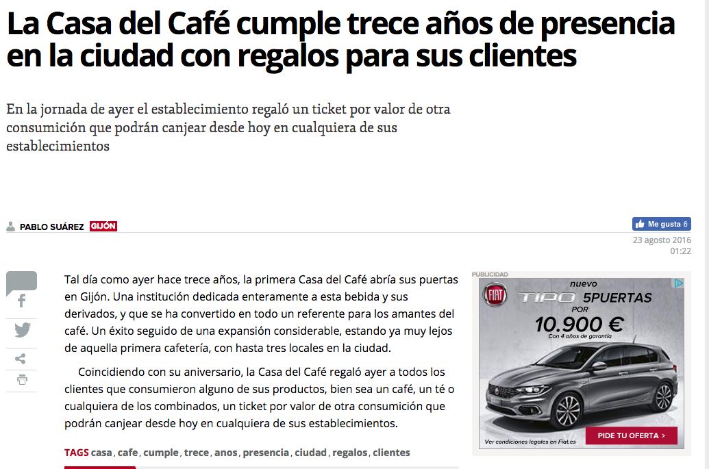Aniversario La Casa Del Café